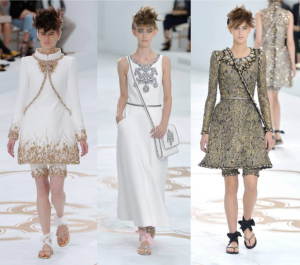 Chanel Haute Couture A/W14: Clean lines, embellished necklines, clever layering, punky hairstyles and cross body bags